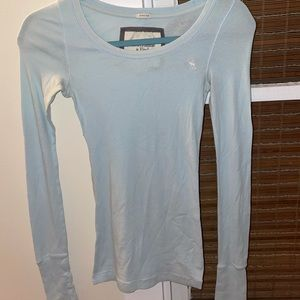 {ABERCROMBIE&FITCH} Long Sleeve Stretch Fitted Top